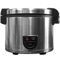 Town 58130 60 Cup (30 Cup Raw) Electric Rice Cooker / Warmer - 120V
