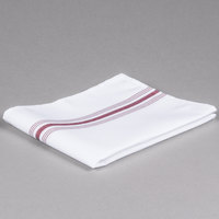 Marko 53771822NH023 Softweave Bistro 18 inch x 22 inch Maroon Striped Napkin - 12/Pack
