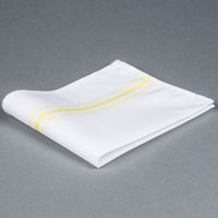 Marko 53771822NH004 Softweave Bistro 18 inch x 22 inch Yellow Striped Napkin - 12/Pack