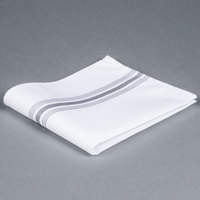 Marko 53771822NH512 Softweave Bistro 18 inch x 22 inch Metallic Gray Striped Napkin - 12/Pack