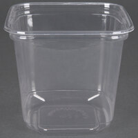 D&W Fine Pack SD24N FreshServe 24 oz. Square PLA Biodegradable / Compostable Plastic Clear Deli Container - 50 / Pack