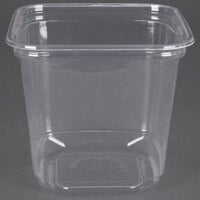 D&W Fine Pack SD24N FreshServe 24 oz. Square PLA Biodegradable / Compostable Plastic Clear Deli Container - 50/Pack