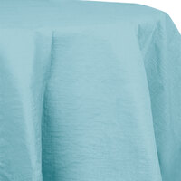 Creative Converting 923882 82 inch Pastel Blue OctyRound Tissue / Poly Table Cover