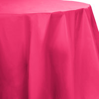 Creative Converting 703277 82 inch Hot Magenta OctyRound Disposable Plastic Table Cover