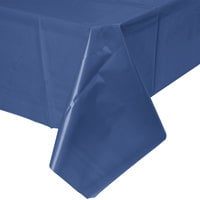 Creative Converting 010140B 54 inch x 108 inch Navy Blue Disposable Plastic Table Cover