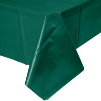 Creative Converting 723124 54 inch x 108 inch Hunter Green Disposable Plastic Table Cover