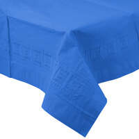 Creative Converting 710239B 54 inch x 108 inch True Blue Tissue / Poly Table Cover