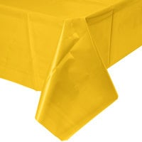 Creative Converting 011012B 54 inch x 108 inch School Bus Yellow Disposable Plastic Table Cover