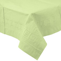Creative Converting 713130 54 inch x 108 inch Pistachio Green Tissue / Poly Table Cover