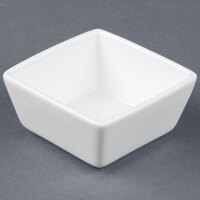 World Tableware SL-44 Slate 4 oz. Ultra Bright White Square Porcelain Dipping Bowl - 36 / Case