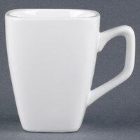 World Tableware SL-1 Slate 9 oz. Ultra Bright White Tall Porcelain Cup - 36 / Case
