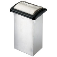 San Jamar H2005CLBK Venue In-Counter Fullfold Napkin Dispenser with Control Face - Clear Face with Black Body