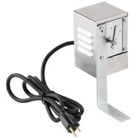 Optimal Automatics 404 Motor with Cover and Bracket for Party Que 300 and 350 Rotisserie Grills - 120V