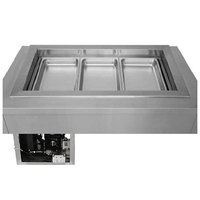 Wells RCP-300ST 45 inch Three Pan Drop In Refrigerated Cold Food Well with Slope Top