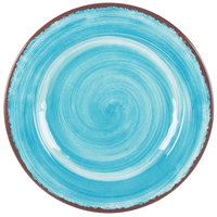 Carlisle 5400115 Mingle 11 inch Aqua Round Melamine Dinner Plate - 12 / Case