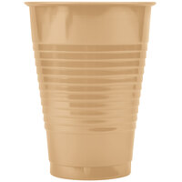 Creative Converting 28103071 12 oz. Glittering Gold Plastic Cup - 20 / Pack
