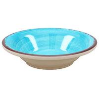 Carlisle 5401815 Mingle 4.5 oz. Aqua Melamine Fruit Bowl - 48 / Case