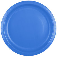 Creative Converting 50145B 10 inch True Blue Paper Plate - 24 / Pack