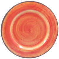 Carlisle 5400652 Mingle 12 1/2 inch Fireball Round Melamine Charger Plate - 12 / Case