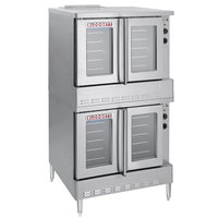 Blodgett SHO-100-E Double Deck Full Size Electric Convection Oven - 220/240V, 3 Phase, 22 kW