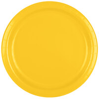 Creative Converting 471021B 9 inch School Bus Yellow Paper Dinner Plate - 24 / Pack