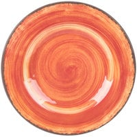 Carlisle 5400252 Mingle 9 inch Fireball Round Melamine Salad Plate   - 12/Case