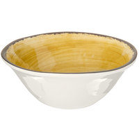 Carlisle 5400413 Mingle 27 oz. Amber Melamine Ice Cream Bowl - 12/Case