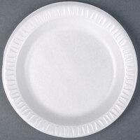 Dart Solo 7PWQR Quiet Classic 7 inch White Laminated Round Foam Plate - 1000/Case