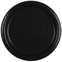 Creative Converting 47134B 9 inch Black Velvet Paper Plate - 24 / Pack