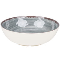 Carlisle 5401318 Mingle 4.8 Qt. Smoke Melamine Large Serving Bowl - 6 / Case