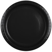 Creative Converting 50134B 10 inch Black Velvet Paper Banquet Plate - 24 / Pack