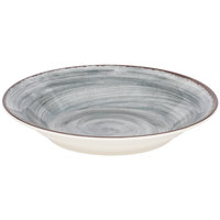Carlisle 5400318 Mingle 28.5 oz. Smoke Melamine Rimmed Soup Bowl - 6/Case