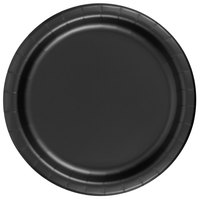 Creative Converting 79134B 7 inch Black Velvet Paper Lunch Plate - 24 / Pack