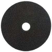 3M 7200 15 inch Black Stripping Pad - 5/Case