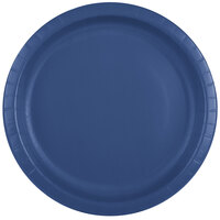 Creative Converting 501137B 10 inch Navy Paper Banquet Plate - 24 / Pack