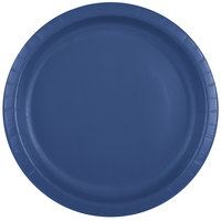 Creative Converting 501137B 10 inch Navy Blue Paper Plate - 24/Pack