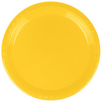 Creative Converting 28102111B 7 inch School Bus Yellow Plastic Plate - 50/Pack