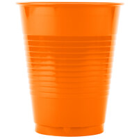 Creative Converting 28191081 16 oz. Sunkissed Orange Plastic Cup - 20 / Pack