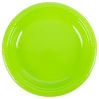 Creative Converting 28312331 10 inch Fresh Lime Green Plastic Plate - 20/Pack