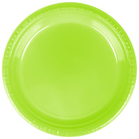 Creative Converting 28312321 9 inch Fresh Lime Green Plastic Dinner Plate - 20 / Pack