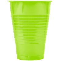 Creative Converting 28312371 12 oz. Fresh Lime Green Plastic Cup - 20 / Pack
