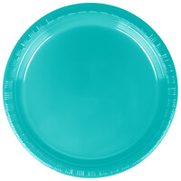 Creative Converting 28111011 7 inch Tropical Teal Plastic Lunch Plate - 20 / Pack