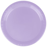 Creative Converting 28193011 7 inch Luscious Lavender Purple Plastic Plate - 20 / Pack