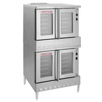 Blodgett ZEPHAIRE-200-G Double Deck Full Size Bakery Depth Gas Convection Oven with Draft Diverter - 120,000 BTU
