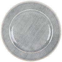 Carlisle 6400118 Grove 11 inch Smoke Round Melamine Dinner Plate - 12 / Case