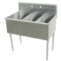 Advance Tabco 4-3-72 Three Compartment Stainless Steel Commercial Sink - 72 inch
