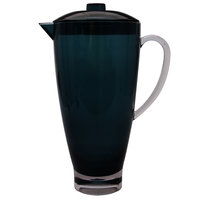 Carlisle EP3015 Epicure Cased 74 oz. Aqua Tritan Plastic Pitcher with Lid - 4/Case