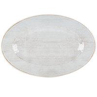 Carlisle 6402006 Grove 12 inch x 8 inch Buff Oval Melamine Platter - 12/Case