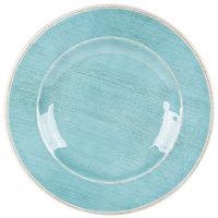Carlisle 6400215 Grove 9 inch Aqua Round Melamine Salad Plate - 12 / Case