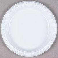 Genpak 70700 Aristocrat 7 inch White Heavy Plastic Plate - 125 / Pack